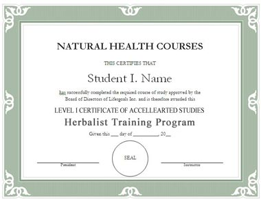 Herbal Practitioner Course Level 1