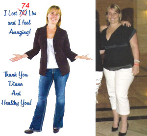 Samantha Before & After Ideal Protein Photo