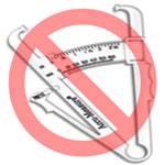 No body fat testing calipers
